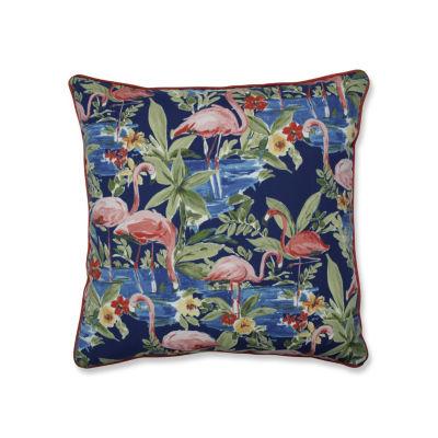Pillow Perfect Flamingoing Lagoon 25-Inch Outdoor Floor Pillow