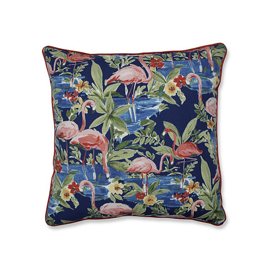 Pillow Perfect Flamingoing Lagoon 25-Inch Outdoor Floor Pillow