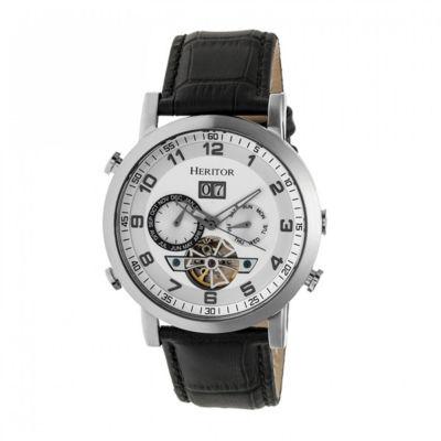 Heritor Edmond Mens Black Strap Watch-Herhr6201