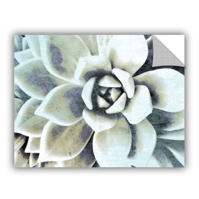 Blue Succulent Removable Wall Decal