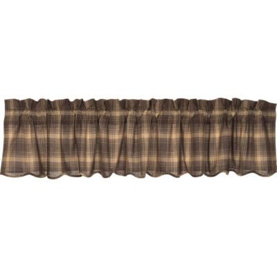 Rustic & Lodge Window Dawson Star Scalloped Valance