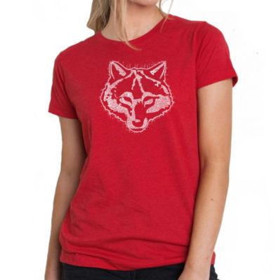 Los Angeles Pop Art Women's Premium Blend Word ArtT-shirt - Cub Scout