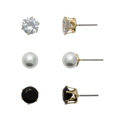 Sensitive Ears Brass 8mm Hoop Earrings