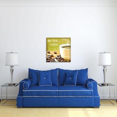 Motivational Wall Art But First Coffee Wall DecorPanel
