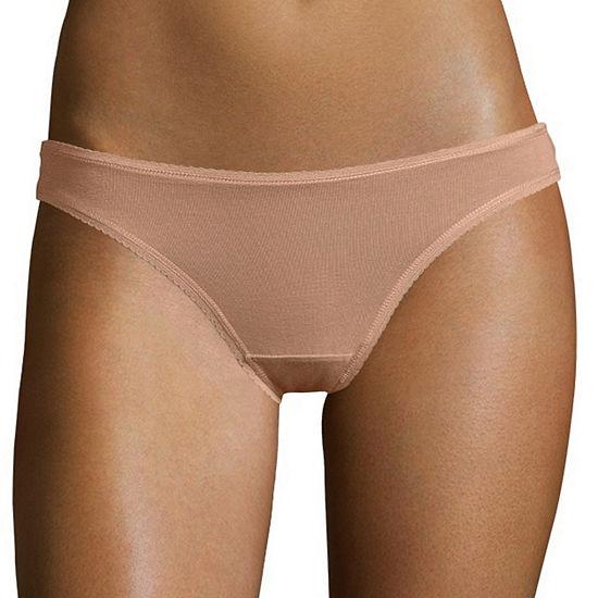 City Streets Cotton Lace Thong Bikini Panty