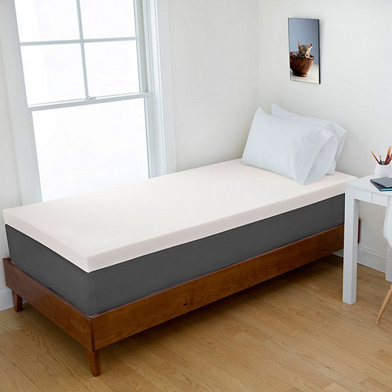 Authentic Comfort 2-Inch Memory Foam Mattress Topper, College Sizes - Twin XL, Twin, Full