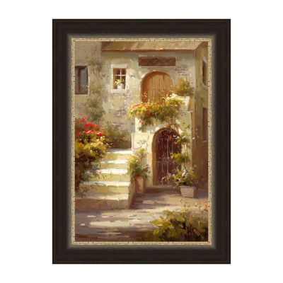 Courtyard Steps Framed Print