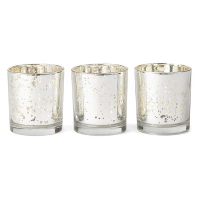 Home Essentials Mercury Votive Set Of 3 Candle Holder