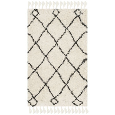Safavieh Moroccan Fringe Shag Collection Atanas Geometric Area Rug