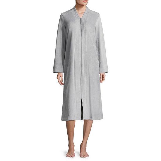 Adonna Womens Velour Robe Long Sleeve