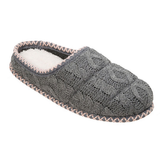 Dearfoams Cable Knit Womens Clog Slippers
