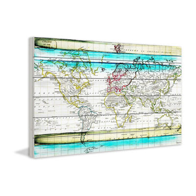 Jet Setting Painting Print on White Wood