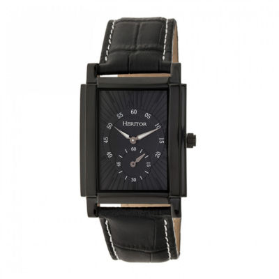 Heritor Frederick Mens Black Strap Watch-Herhr6106