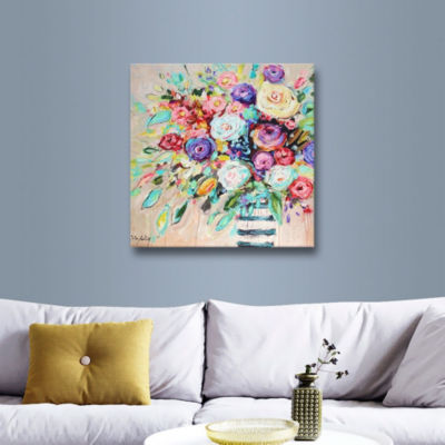 Vibrant Bouquet Gallery Wrapped Canvas