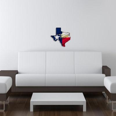 Metal Wall Art Yellow Texas Flag