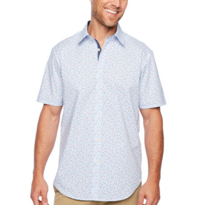 Society Of Threads Short Sleeve Floral Button-Front Shirt