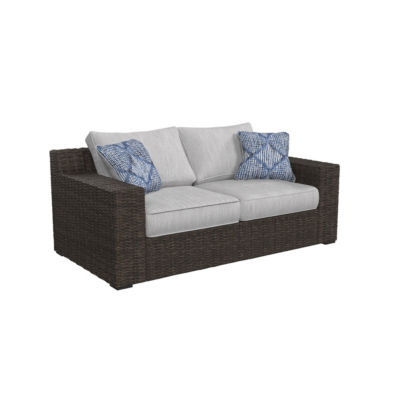 Genial Outdoor By Ashley® Alta Grande Patio Loveseat With Cushion