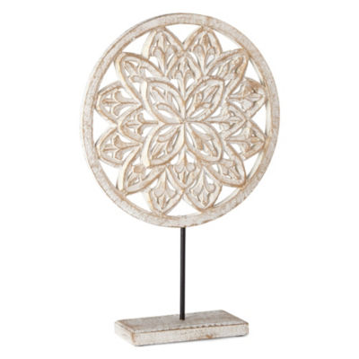 Home Essentials Carved Medallion Tabletop Decor
