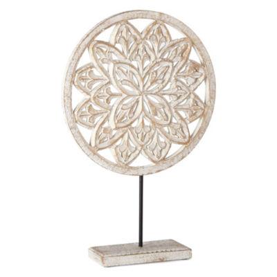 Home Essentials Carved Medallion Tabletop Decor