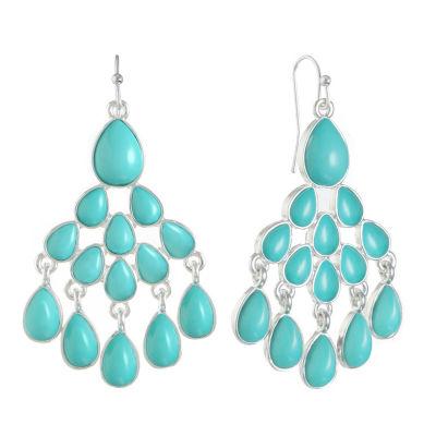 Liz Claiborne Blue Chandelier Earrings