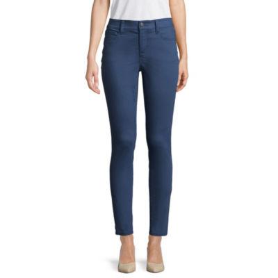 St. John's Bay Secretely Slender Womens Mid Rise Skinny Fit Jean
