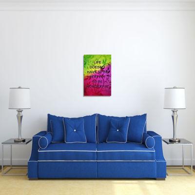 Motivational Wall Art Life is Wonderful Wall DecorPanel