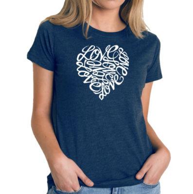 Los Angeles Pop Art Women's Premium Blend Word ArtT-shirt - LOVE