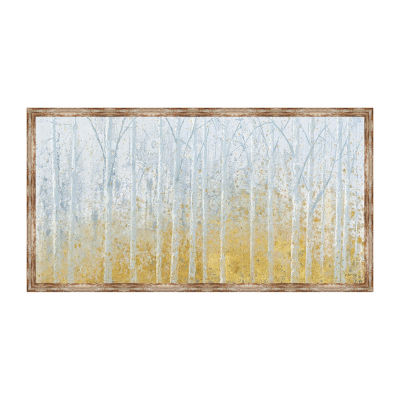 Silver Waters Framed Canvas Art