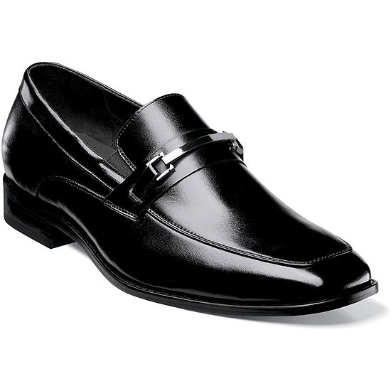 Stacy Adams Blake Mens Leather Moc Toe Slip On Dress Shoes