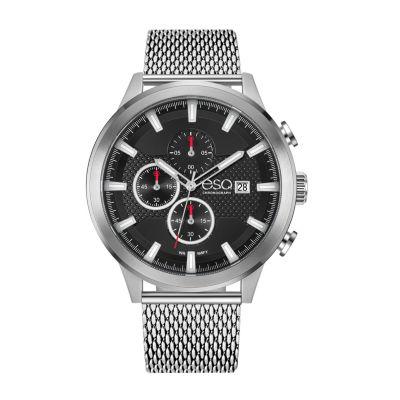 Esq Mens Silver Tone Bracelet Watch-37esq022301a