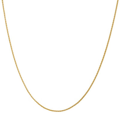 14K Gold Solid Wheat 16 Inch Chain Necklace