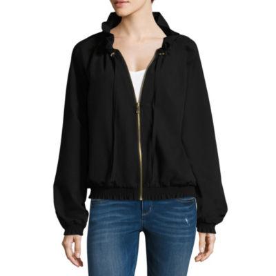 Worthington Ruffle Collar Jacket