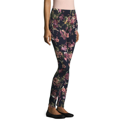 Mixit Petite Knit Print Womens Skinny Legging - Petite