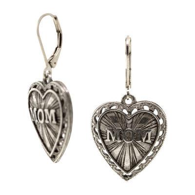 1928 Mother's Day Items Brass Drop Earrings