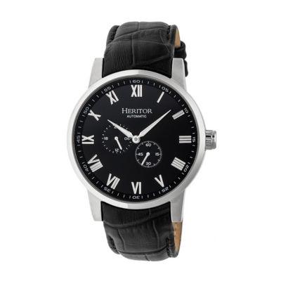 Heritor Unisex Black Strap Watch-Herhr6404