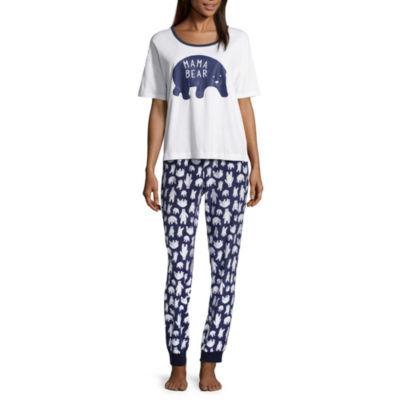 Sleepy Nites  2-pc. Mama Bear Pant Pajama Set-Juniors