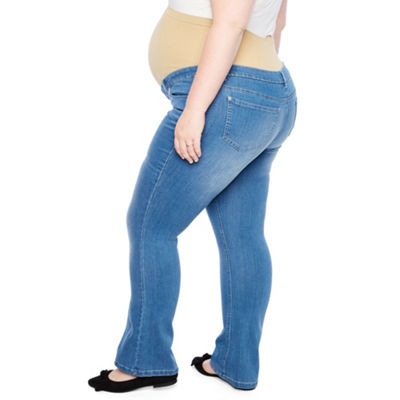 Planet Motherhood Boocut Jeans - Plus Maternity