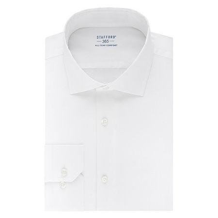 Stafford 365 All-Temp Comfort Flex Collar Regular Wrinkle Free Mens Spread Collar Long Sleeve Wrinkle Free Stretch Cooling Dress Shirt, 15-15.5 32-33,
