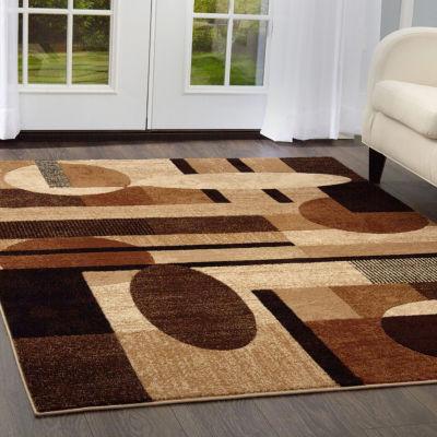 Home Dynamix Tribeca Jasmine Abstract Rectangular3-Piece Rug Set