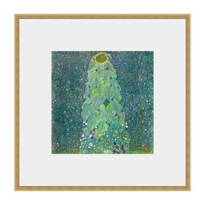 The Sunflower - Klimt Framed Print