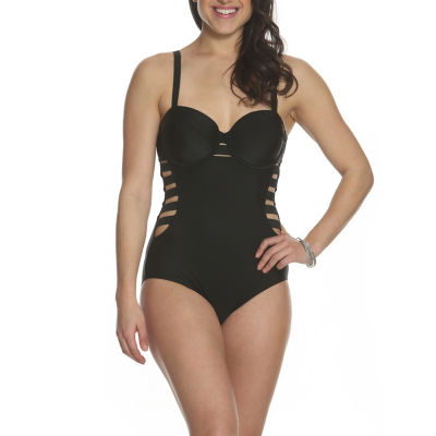 Sun and Sea Desert Palms Cut Out One Piece Swimsuit - Plus