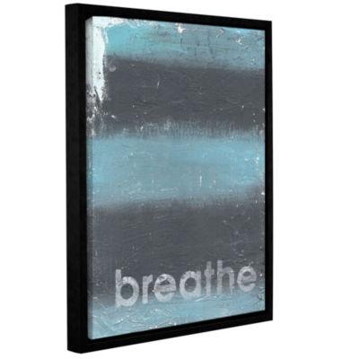 Brushstone Breathe Floater-Framed Gallery Wrapped Canvas