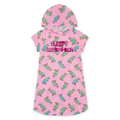 Arizona Hooded Short Sleeve Sleepy Saurus-Rex Dorm - Girls 4-16