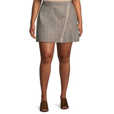 Arizona Short A-Line Skirt-Juniors Plus