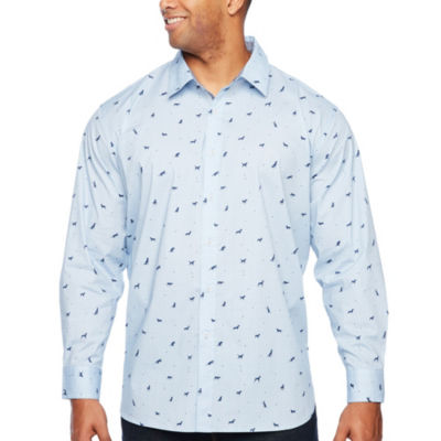 Society Of Threads Long Sleeve Button-Front Shirt-Big and Tall