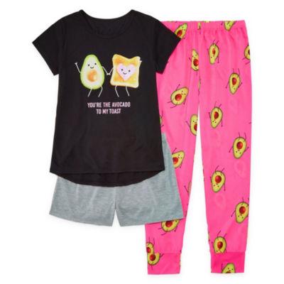 Arizona 3pc Avocado Pajama Set - Girls 4-16