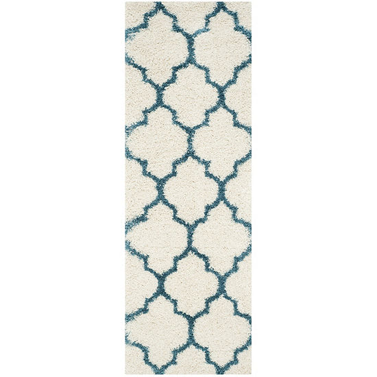 Safavieh Shag Kids Collection Dalton Geometric Runner Rug
