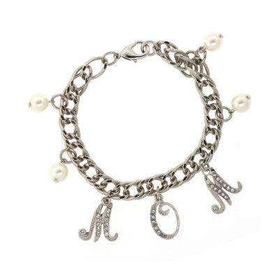 1928 Mother's Day Items Womens Brass Charm Bracelet