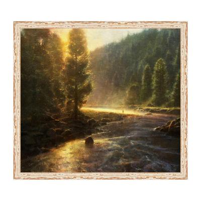 Morning In The Wilderness Framed Canvas Art