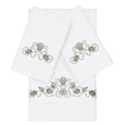 Linum Home Textiles 100% Turkish Cotton Bella 3PC Embellished Towel Set
